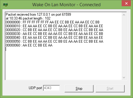 Wake on LAN Sniffer